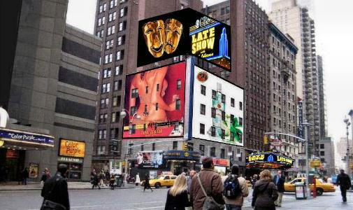 Billboards in New York City