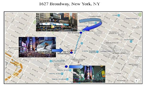 Map of  Billboards in New York City